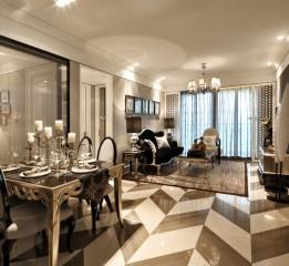 黑白灰造就古典情怀  新欧式样板房设