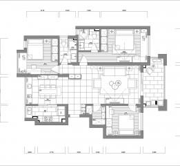 杭州市余杭区金石华城三房二厅设计案