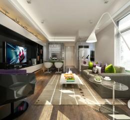 福建省三明市时代颐园二居室设计效果