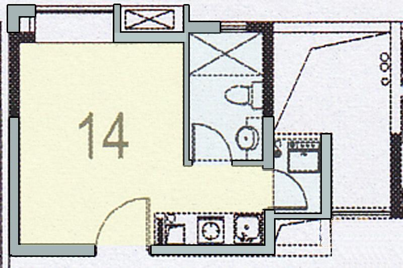 《大学时光》小户型公寓(3d鸟瞰图)-室内设计-空间