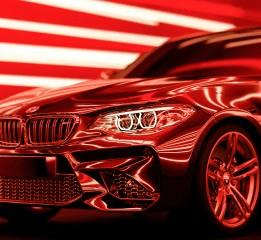 Neon style render car