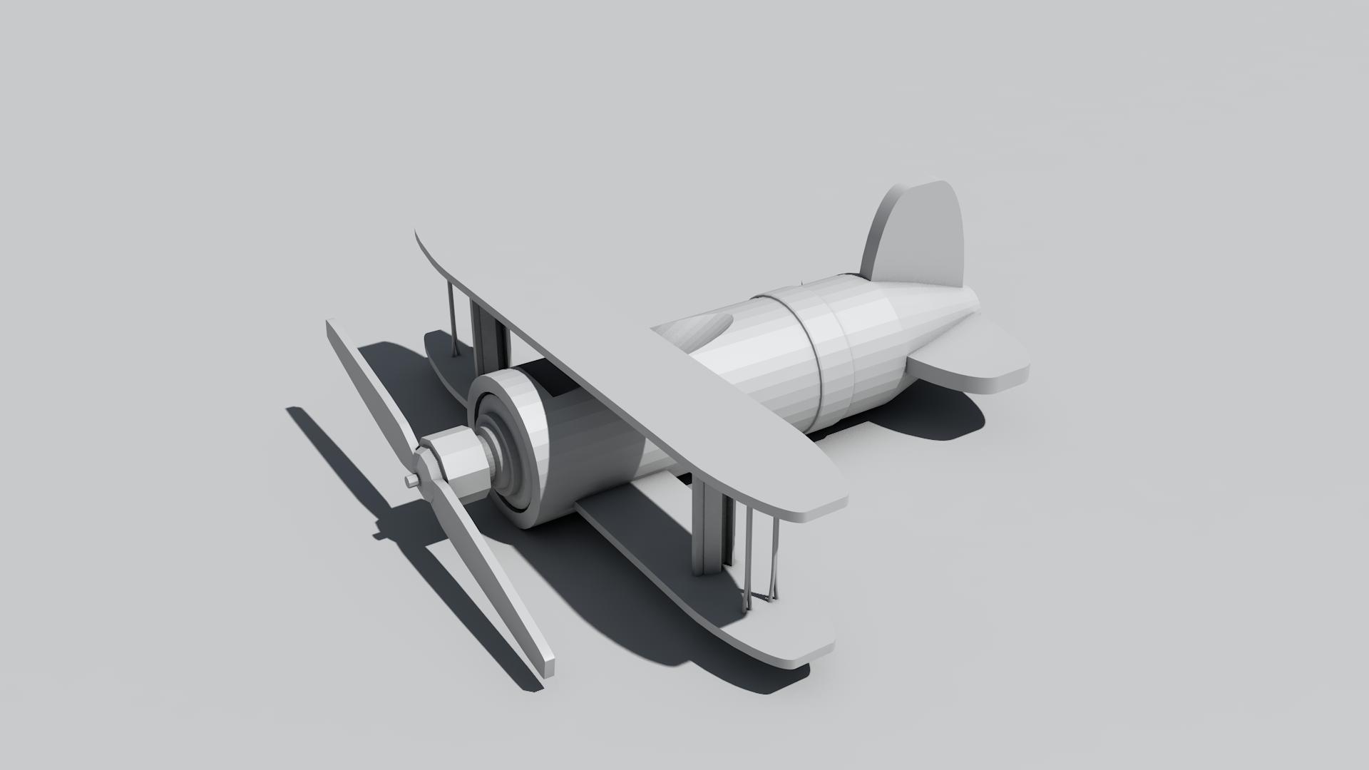小飞机-机械/交通-三维-设计作品-中国设计之窗