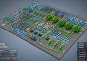 工业系统3D流程