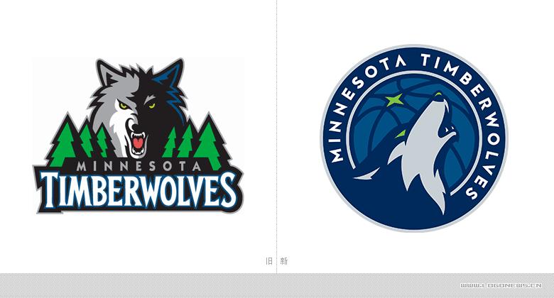 森林狼队推出全新logo设计图片