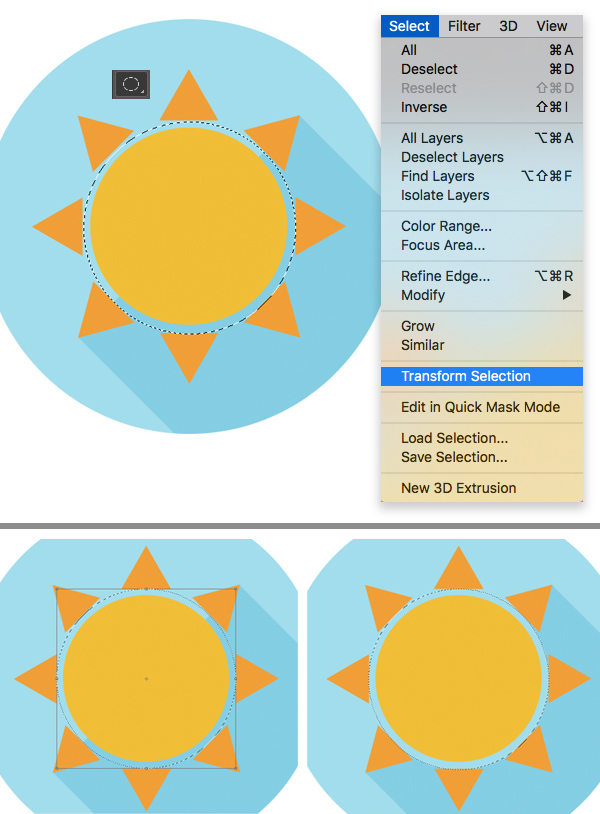 手把手教你绘制一组扁平化的天气图标