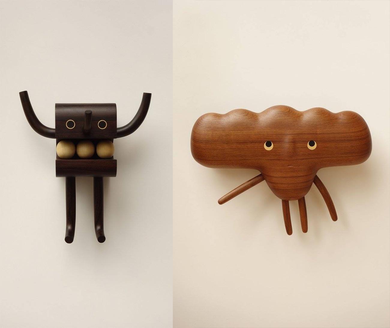 台湾设计师阎瑞麟打造一系列可爱木头玩偶
