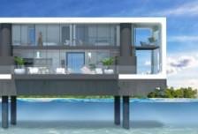 """荷兰建筑师设计""""漂浮房屋"""" 打造水中生活时尚相关图片"""