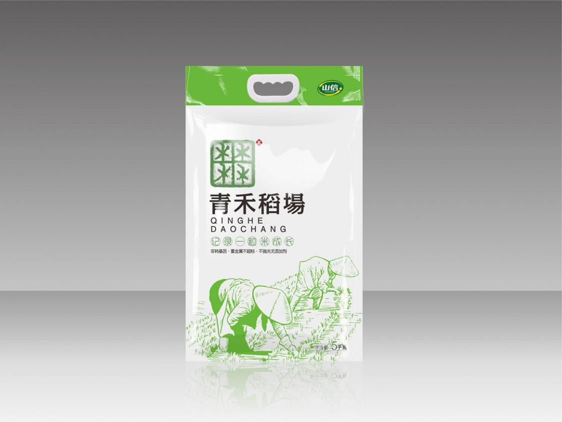 山信集团青禾稻场大米包装设计