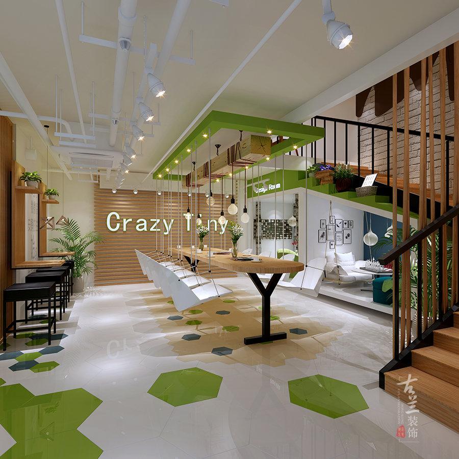 建筑设计,咖啡厅和客厅都是相通的,这主要是从空间感的角度来考量的.