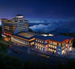 阆中星级酒店设计|锅庄温泉星级酒店
