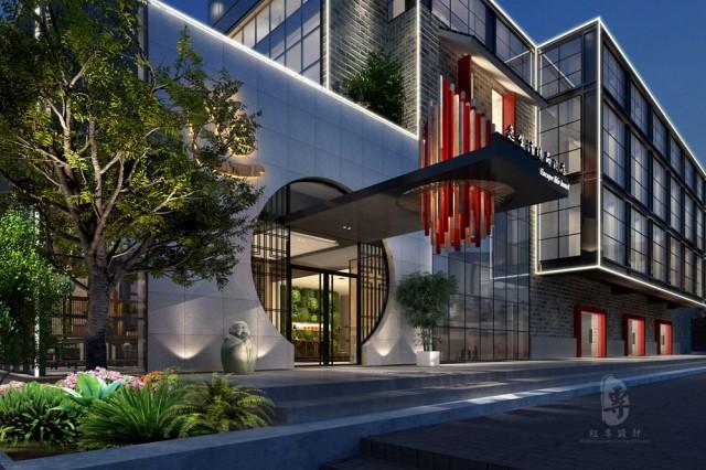 项目名称:逸生活精品酒店  项目地址:陕西省安康市高新区休闲养生商业街内  设计单位:红专设计
