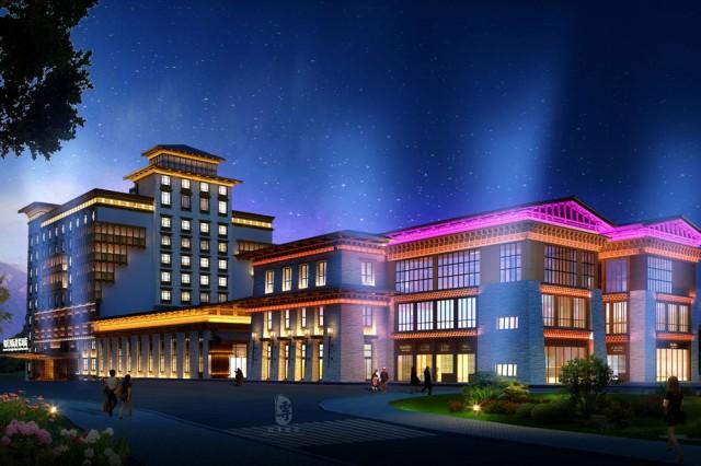 遂宁度假酒店设计公司项目名称:锅庄温泉度假酒店    项目地址:甘孜自治州康定县榆林新区    设计单位:红专设计