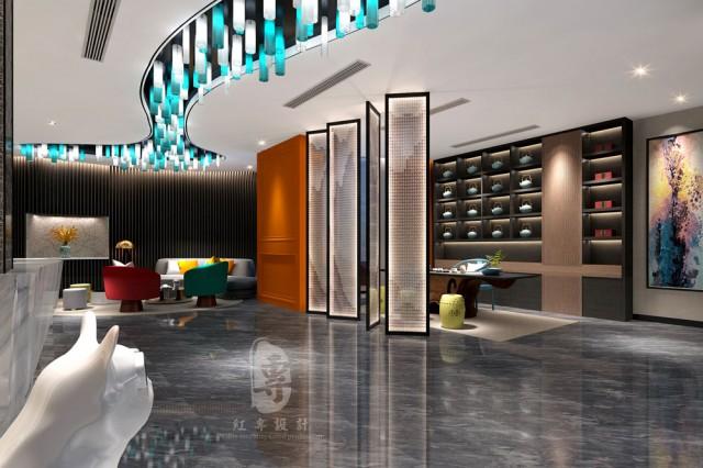 华北专业酒店设计公司项目名称:莱美城市精品酒店    项目地址:湖北省建始县鸿榜莱茵国际    设计单位:红专设计
