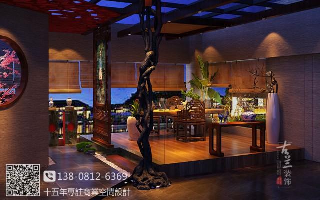 这是一个以茶为载体,间接销售金丝楠木的体验馆,装修中以文化为主线,禅茶合一是对茶的升华和诠释。此项目除了禅茶文化还要深挖楠木的文化,不管从楠木的质地、光泽、味道等入手,配合色调,灯光等,把五味的体验空间做到极致。【24H热线咨询:138-0812-6369(微信)】