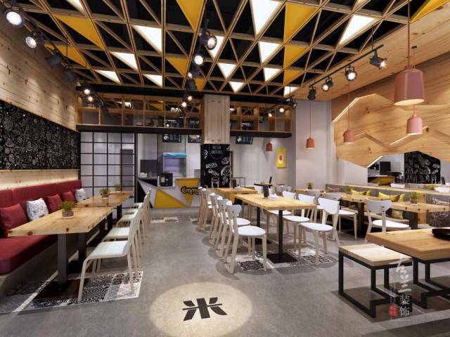 设计说明:设计主题为极简化设计,现代与自然的结合,追求质量与质感,做到高品质感受。黑钛与木质的结合,给前来消费的食客轻松与愉快的用餐氛围。顶面与软装桌椅采用原木制作,完美的呼应整个硬装设计,使整体空间安逸舒适,还原生活的乐趣。
