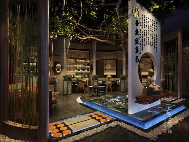 成都茶艺馆设计公司|菩提道茶艺馆
