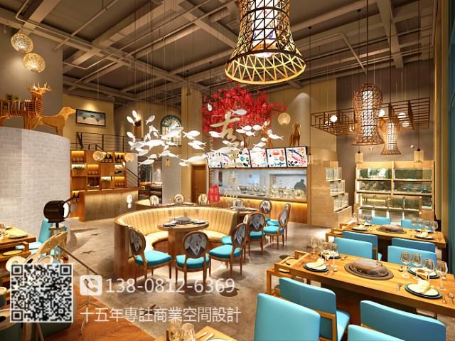 蓝贝蒸汽海鲜餐厅-柳州餐厅设计,桂林餐厅设计公司