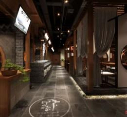 新疆餐厅设计公司之伊宁印象川渝中餐