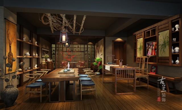 成都茶楼设计公司|幽兰茶艺馆设计案例