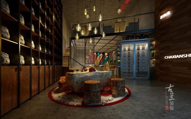 设计说明:本案经营方向是集茶语、咖啡、点心为主的休闲空间,主要针对小区内的住户,设计上采用LOFT风格的墙顶地材料,辅以大胆艳丽的跳色。钢结构的搭建也别具新意,斜拉的跨度,让本来开间不足的店面显得十分大气。