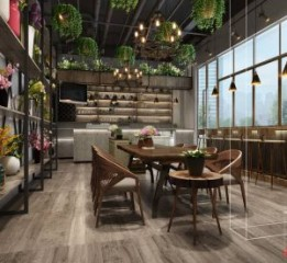 湖南长沙咖啡厅设计装修公司|一花一