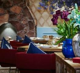成都餐厅装修设计_泰式花园餐厅装修