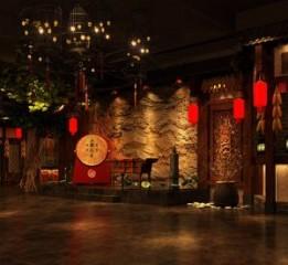 宜昌中餐厅设计装修公司|稻香阁民俗