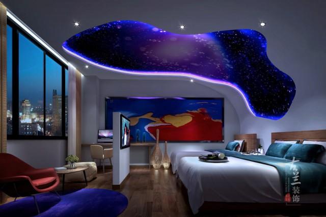 项目说明:设计上是以景点来贯穿整体酒店的空间,从酒店的每个方面流露出一种自然神韵,符合现代人士想去寻觅一处幽静的地方。酒店以主题房和商务房结合,既能满足追求自然情趣的人也能满足普通商务人士的住宿要求。 酒店具有不同的主题房间展现不同植物的自然美感,也能深层次的反映自然人文情怀。