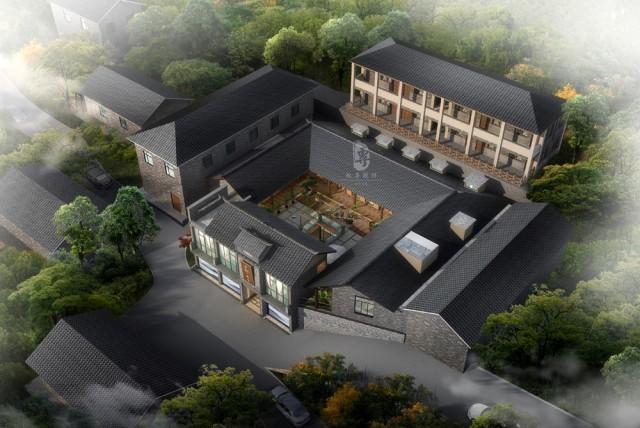 项目名称:青城山居 项目地址:青城山镇味江村10组179号 设计公司:红专设计 酒店 餐饮 设计与施工就找成都古兰装饰