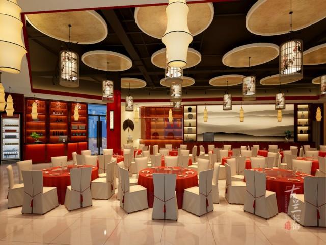 设计说明:本项目是一个特色川菜餐饮空间,为了给客人带来更好的就餐环境做的一次装修升级,客户想用中式喜庆的风格来烘托小宴会的风格,但又不想要传统的中式,用到了喜庆的红色简化的窗格等等。