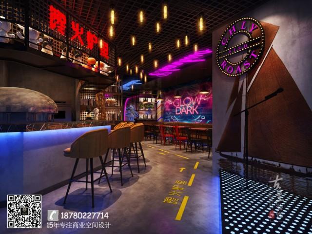武汉专业餐厅设计公司 武汉餐厅施工 武汉餐厅装修设计 馋火炉鱼餐厅(动物园店)