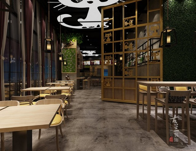项目说明:该项目主要经营的是西式快餐简餐为主,下午以喝咖啡为辅。甲方想打造一家具有自身特色的,而且拥有趣味性的一个用餐氛围。我们综合多方面的考虑设计风格以馋嘴猫为主题,色彩上选用的灰色搭配浅木纹色,门头以黄色配背景音乐来增加很强的视觉冲击效果,室内点缀黄色座位,跟室外进行呼应。