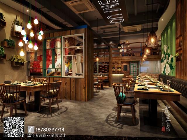 餐厅是一个方针客户明确的餐饮店,所以为了进步流量,特征是必不可少的。在成都餐厅设计公司中虽然特征必不可少,但一定不要忽略实际情况。只要大众认可,才能一劳永逸。