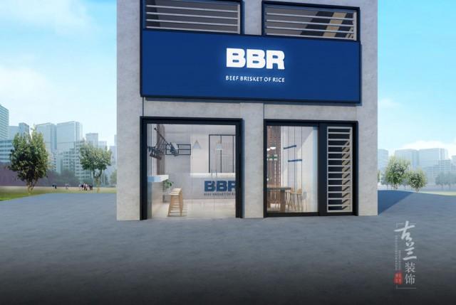 重庆餐厅设计。项目名称:BBR牛腩饭快餐厅 项目地址:成都市龙井北街6号龙锦大厦1层