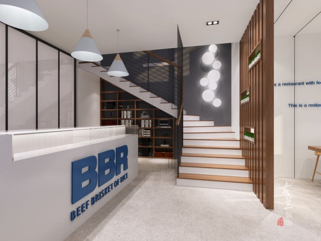 重庆餐厅设计 | BBR牛腩饭快餐厅设计项目案例