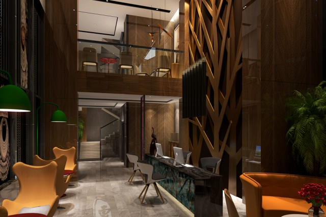 设计说明: 该项目地处贵州省瓮安县的红军路锦美时代广场,是瓮安最繁华的地带,艾途城市精品酒店设计是由著名酒店设计公司红专设计倾力设计。在本精品酒店设计中、红专设计使用港式和贵州苗族元素相结合的设计手法,使整个精品酒店简洁时尚、同时具有独特的国际文化范。