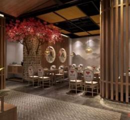 兰州餐厅设计装修公司 湘悦楼餐厅装