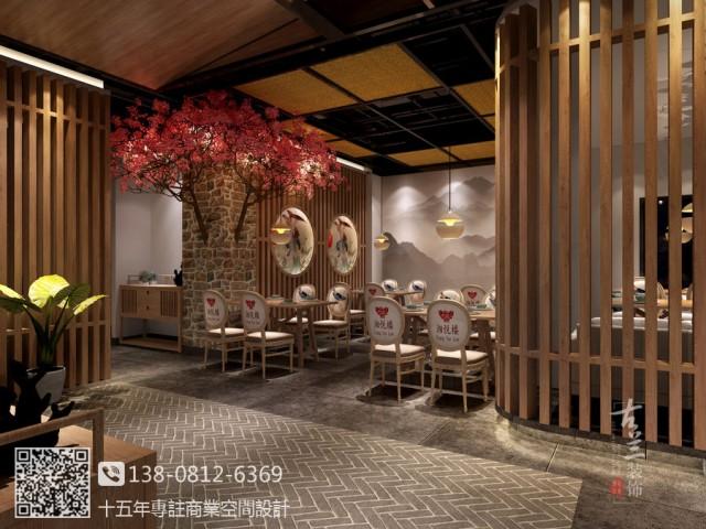 兰州餐厅设计装修公司 湘悦楼餐厅装修效果图