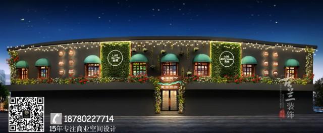 成都专业餐厅设计公司案例分享-餐饮店名:曲靖香樟树下西餐厅 云南省曲靖市麒麟区建设路(曲靖一幼对面)