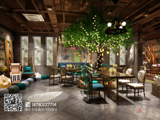 """成都餐厅设计公司从""""曲靖市人民的日常生活和欢乐情调""""作为设计的出发点,打造出了一家""""家以外的家""""的餐厅。"""