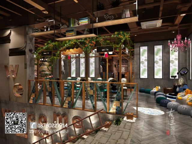 紧接着道路将人们引向中央的开放式用餐区和周围的半室内空间。内部空间呈现出一种自由而流畅的感觉,主要采用了与土地相近的材料与色彩。