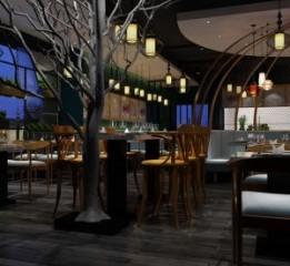 兰州餐厅设计装修公司 海魔方海鲜餐
