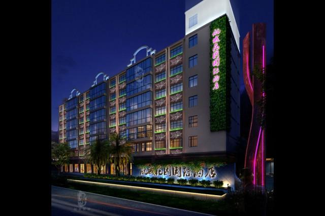项目名称:昆明航城国际花园酒店 项目地址:云南省昆明市官渡区长水航城 酒店|餐饮|设计与施工就找成都古兰装饰-17311404808  设计公司:红专设计