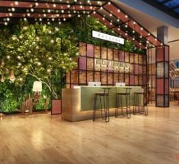 大理餐厅设计公司-银石广场花园餐厅