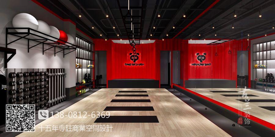 成都健身房设计装修公司-工业风健身房装修效果图