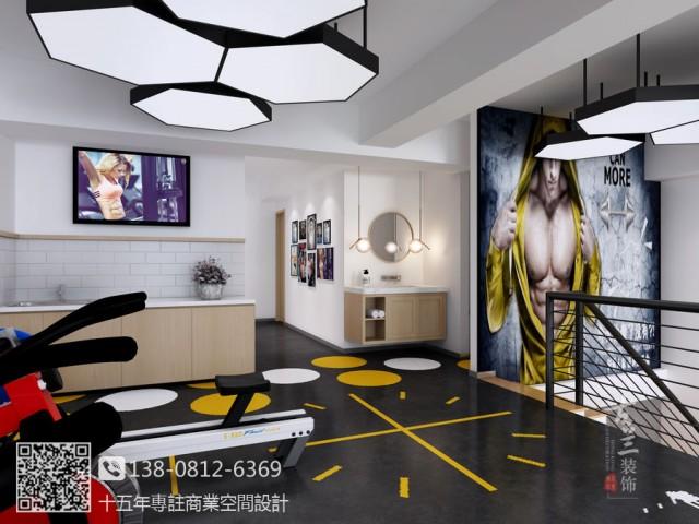 成都健身工作室装修设计公司|大邑逸格健身工作室设计装修效果图