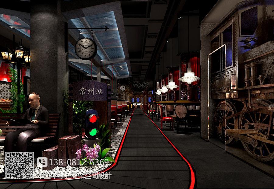 南昌自助餐厅设计装修公司-春天海鲜自助餐厅装修效果
