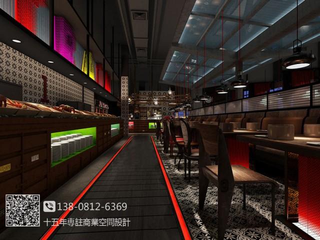 南昌自助餐厅设计装修公司-春天海鲜自助餐厅装修效果图