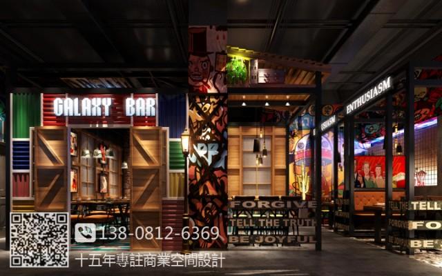 南宁餐厅装修设计公司哪家好|工业风主题餐厅设计装修效果图