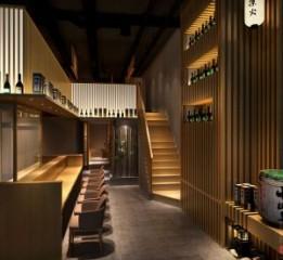 泉州日式料理店设计装修效果图-凛火